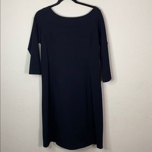 Eileen Fischer 3/4-Sleeve Washable Crepe Dress